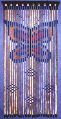 Amazon.com: Wooden Beaded Door Curtain ~ Butterfly ~ Hand Painted ...