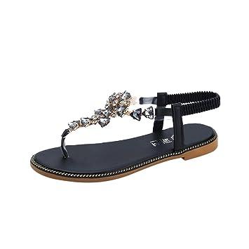 Femme Sandales Chaussures Vintage Femmes Plat Été❤️xinan❤ I9WDH2E