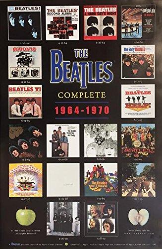 Amazon Buyartforless The Beatles Albums Poster Print 24 X 36