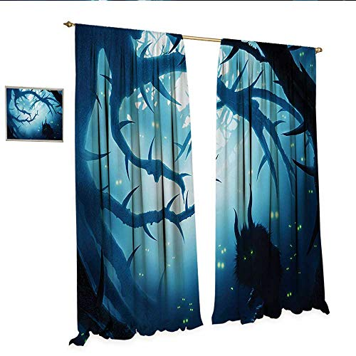 Mystic Drapes for Living Room Animal with Burning
