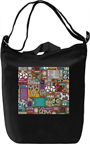 Music Pattern Borsa Giornaliera Canvas Canvas Day Bag| 100% Premium Cotton Canvas| DTG Printing|