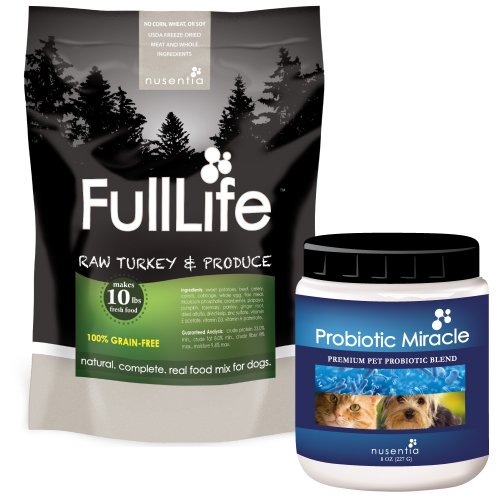 Probiotic Miracle (360 servings) + 50% off FullLife Grain-Free Dog Food (20 servings) (Turkey)