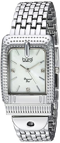 Burgi Women's Quartz Stainless Steel Casual Watch, Color:Silver-Toned (Model: BUR171SS)