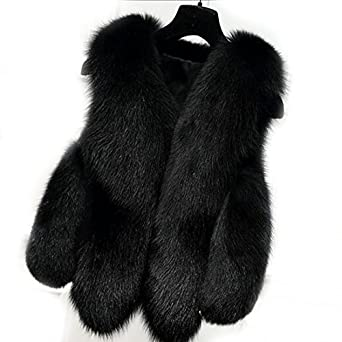 Women's Gilet Outwear Coat Faux Fur Vest Waistcoat Winter