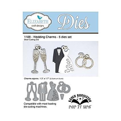 Elizabeth Craft Designs Wedding Charms Die Metal Grey Amazon Co