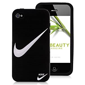 """Nike Swoosh iPhone 6 4.7 Case Sport Brand Logo Silicone Black Protective Cover Guard - """"Just Do It"""