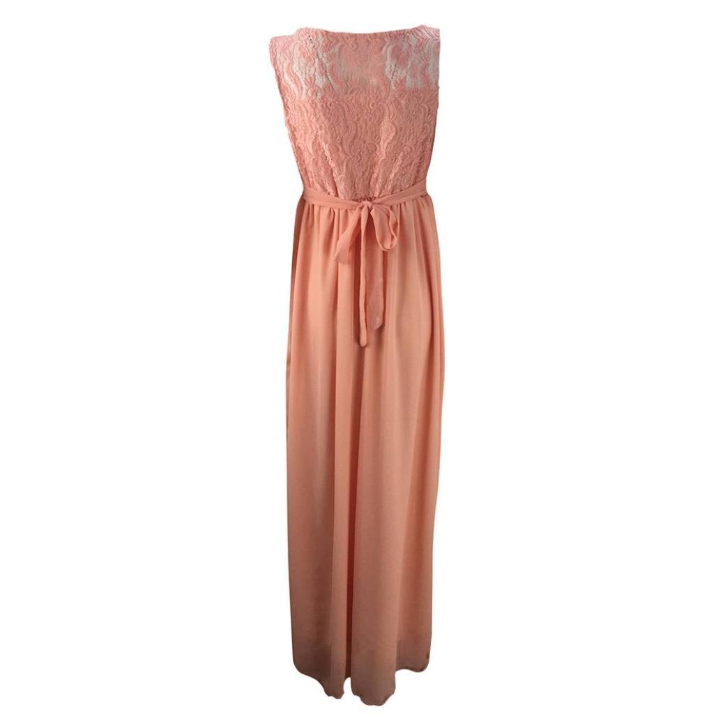 Amazon.com: Mujeres Embarazadas elegante encaje Maxi vestido ...