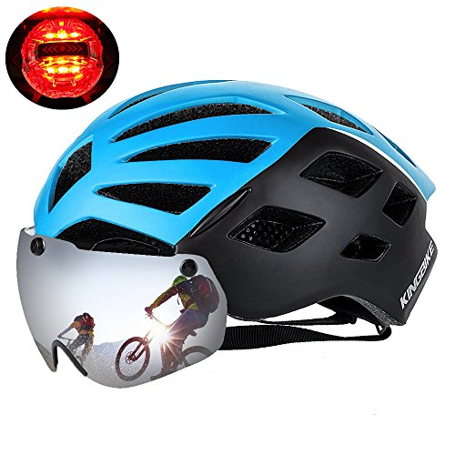 KINGBIKE-DOT-Bicycle-Helmet-with-Detachable-Eye-ShieldUV400-ProtectionOTG3-Modes-Rear-Safety-Light26-Air-Vents