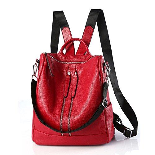 2017 Red Dos College Sac Sac Fashion à Femme Fashion à Zipper Occasionnel Bandoulière KYOIYRO xOnw0B4q1