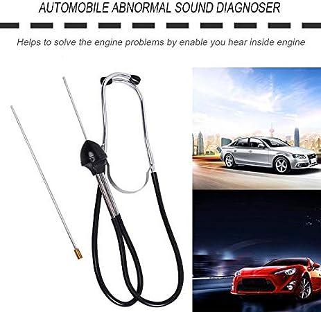 Estetoscopio de cilindro de coche con sonido anormal instrumento de diagn/óstico de sonido de acero inoxidable Cy06010
