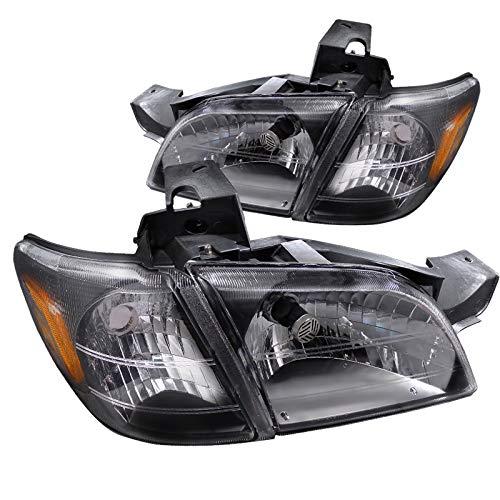Spec-D Tuning 2LCLH-VENT97JM-RS Chevy Venture/Pontiac Trans Am Headlights W/Corner Lamps Black