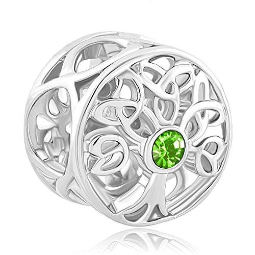 Q&Locket 925 Sterling Silver Jan-Dec Charms Family Tree O...