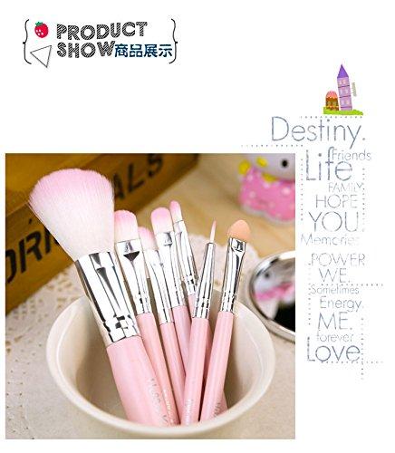 7pcs Розовые профессиональный макияж Косметика Щетки Hello Kitty Набор комплекты