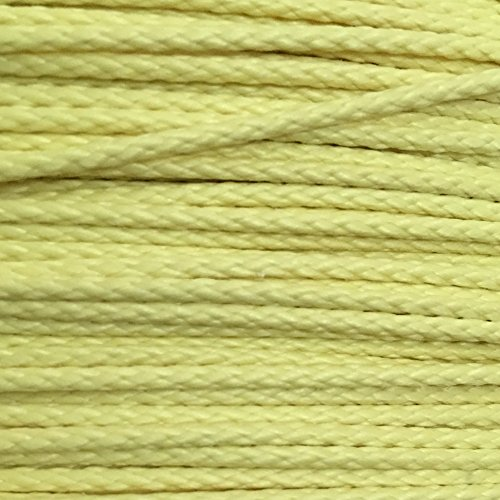 400lb 100 Dupont Kevlar Braided Line 1 7mm Dia Cut And Abrasion Resistant Low Stretch Heat