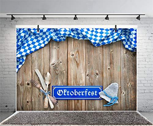 OERJU 3,5x2,5m Oktoberfest Fondo Cuchillo y Tenedor Sombrero ...
