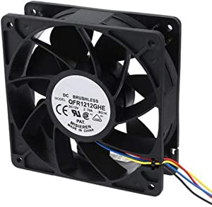 Glamsville FX-6000RPM Heat Dissipation Cooling Fan Cooler for Mining Antminer Bitmain S7 S9 Black