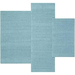 Mainstays Dylan Nylon Accent Rugs, Set of 3, Teal