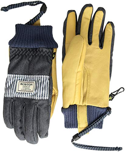 Burton Dam Glove, Denim/Open Road Stripe, X-Large ()
