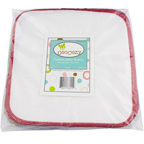 OsoCozy Cloth Baby Wipes – 15 ct