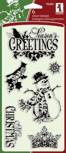 Inkadinkado Ornate Christmas Clear (Christmas Acrylic Stamp Set)