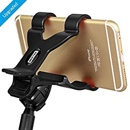 BESTEK Universal Gooseneck Cell Phone Holder Clip Holder + Car Suction Clamp Mount Applied to Home, Bed, Office,Car