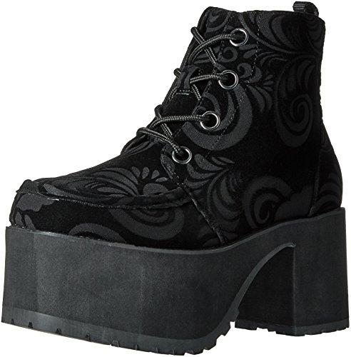 4 Women's T Boots Black Eye Nosebleed Velvet Burnout u Shoes k 6trP6