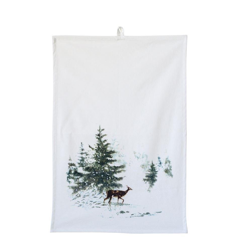 Heart of America Deer & Forest Cotton Tea Towel - 6 Pieces