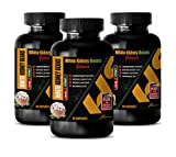 Metabolism Booster for Weight Loss for Women - White Kidney Beans 500 MG - Prime Extract - Weight Loss Natural Vitamins - 3 Bottles (180 Capsules)