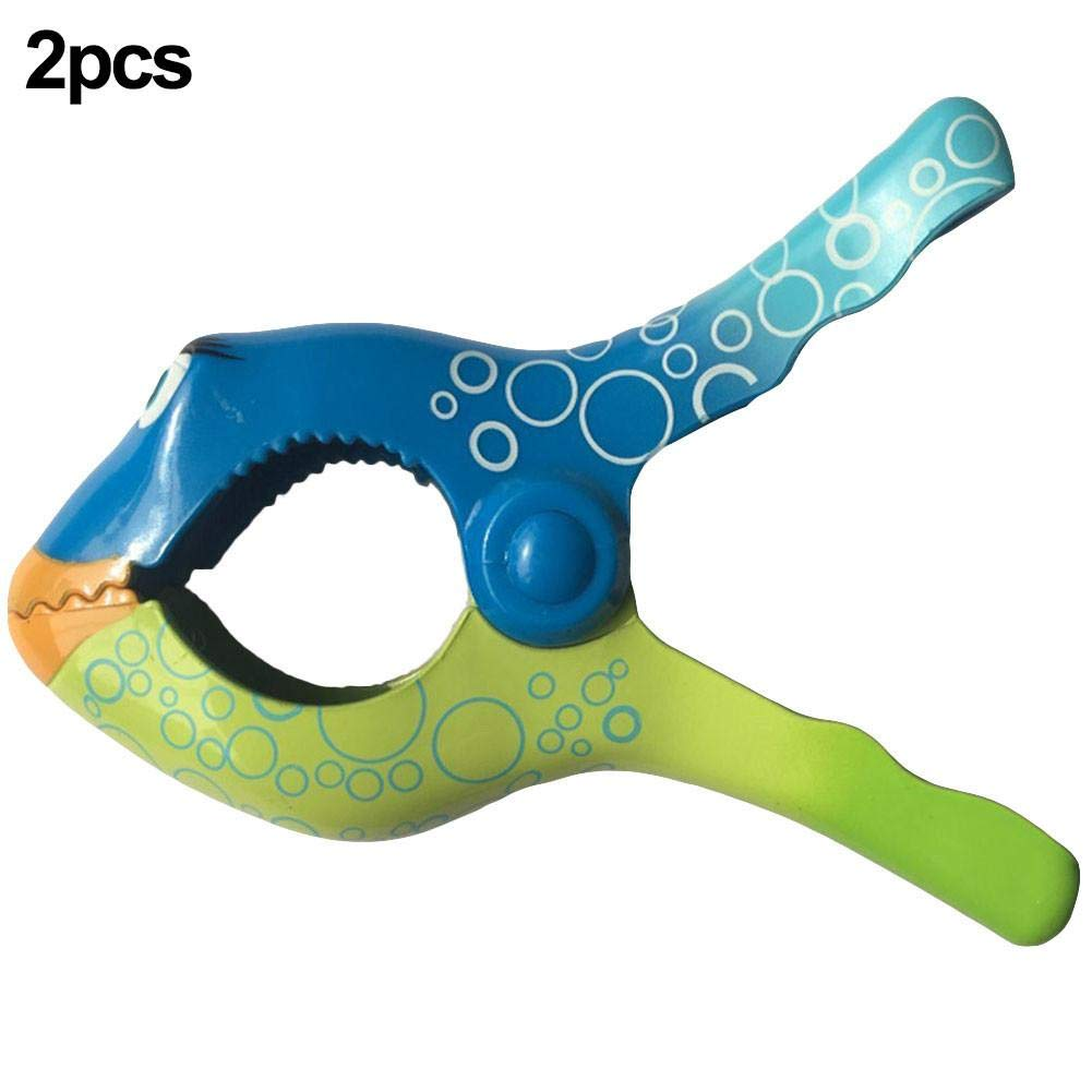 in plastica Mollette per Asciugamano da Spiaggia Vestiti 2 Pezzi a Forma di Pesce per trapunte
