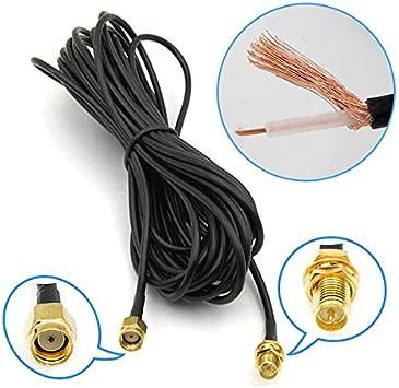 Crewell - Cable alargador de Antena WiFi WAN Router WiFi, 6 m ...
