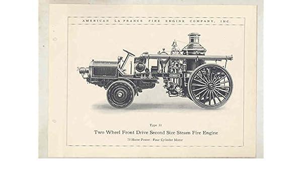 Amazon com: 1914 American LaFrance 31 Steam Fire Truck