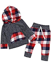 Toddler Baby Boys Girls Stylish Plaid Floral Pocket Hooded Coat,Kids Jackets Stretchy Cloak Tops Clothes