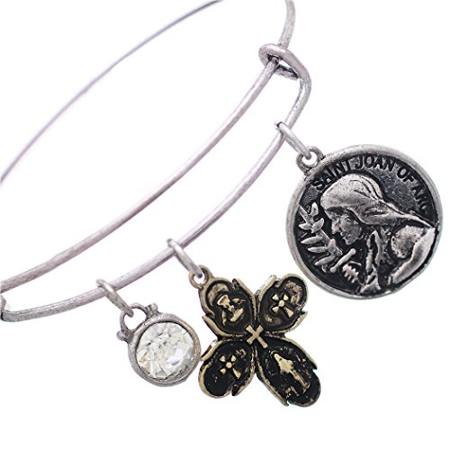 Saint Ann Costume (Rosemarie Collections Women's Religious Charm Bangle Bracelet