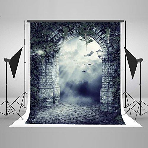 5x7ft(150X220cm) Happy Halloween Photography Backdrops Night Fantasy Sky Photo Background Flying Bat Backdrop Shoot Wrinkles Free ()