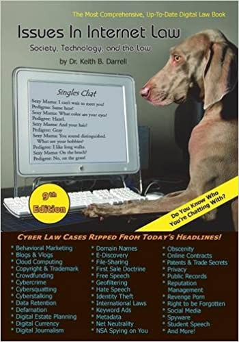 Book Issues in Internet Law: Society, Technology, and the Law, 9th Edition