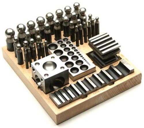 41 PC Dapping Block & Punch Set Metal Forming Kit Jewelry Making Metalsmith (23 MB)