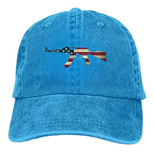 Denim Cowboy Sport Hat Hats DEFFWB Cowgirl Cap for American Gun Skull Men Women Flag zIxqCxH