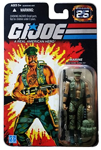 G.I. Joe 25th Anniversary: Gung-Ho (Marine) 3.75 Inch Action Figure -