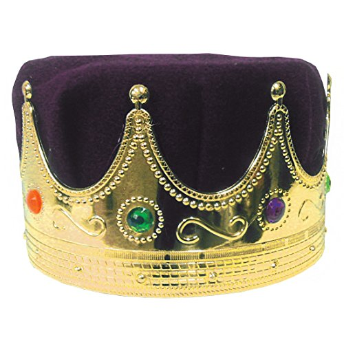 Elizabethan Costumes For Sale (King Costume MardiGras Hat Royalty Crown Purple)