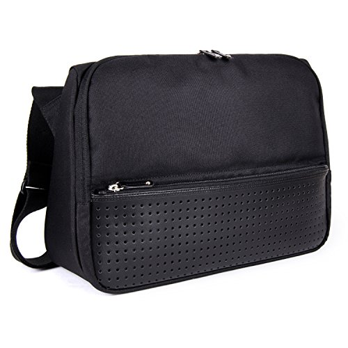 FINEDAYS Triangle Commuter Bag by BZLStudio; Up to 15 inch Laptop Messenger Bag (Black) by BZLStudio