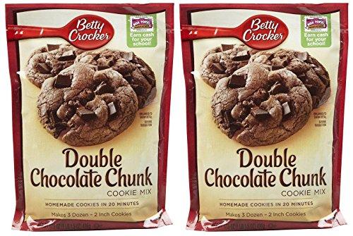 Betty Crocker Double Chocolate Chunk Cookie Mix - 17.5 oz - 2 pk
