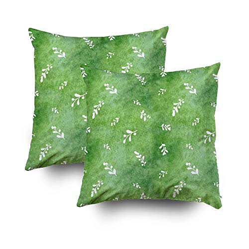 - Decorative Pillow Covers,EMMTEEY 16x16 2Packs Pillow Covers Home Throw Pillow Covers for Sofa black white pattern seamless leaf floral ornament background wallpaper retro design textil Square Double S