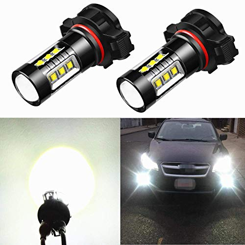 Alla Lighting H10 LED Fog Lights 2800lm Xtreme Super Bright H10 9145 LED Bulbs 5730 33-SMD LED 9145 Bulb 9140 9045 H10 9145 LED Fog Lights for Auto Cars Trucks SUVs - 3000K Amber Yellow