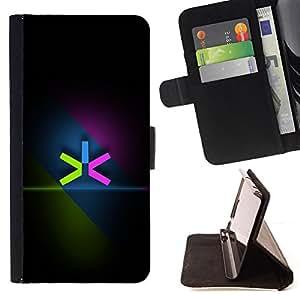 BullDog Case - FOR/Samsung Galaxy S5 Mini, SM-G800 / - / Neon Color Minimalist /- Monedero de cuero de la PU Llevar cubierta de la caja con el ID Credit Card Slots Flip funda de cuer