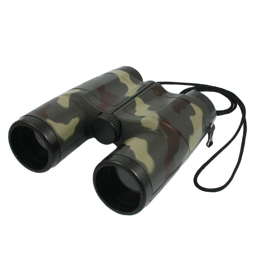 4X 31mm Lens Camouflage Pattern Binocular Telescope with Neck Strap Portable Plastic Binoculars for Children Beautyer