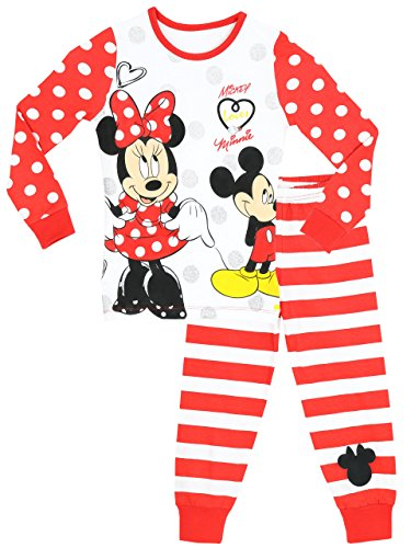 Disney Girls' Minnie Mouse Pajamas Mickey Loves Minnie Size 12