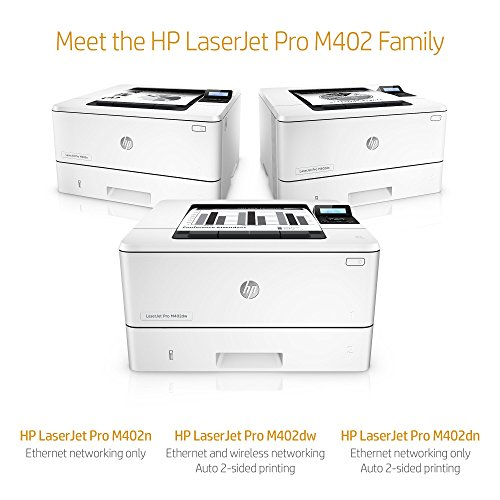 51NmBnT3gQL - HP LaserJet Pro M402n Monochrome Printer, Amazon Dash Replenishment ready (C5F93A)