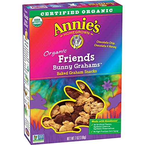 - Annie's Friends Bunny Grahams, Honey/Chocolate/Chocolate Chip, Graham Snacks, 7 oz Box (Pack of 6)