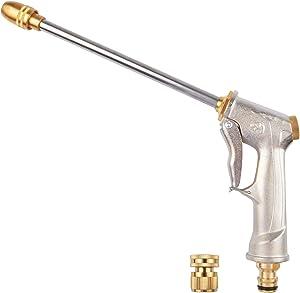 Garden Hose Nozzle Heavy Duty, High Pressure Hose Nozzle Sprayer, Standard Spray Nozzle for Hose with 4 Watering Patterns, Nozzle for Garden, Plants, Patio, Lawn, Car Washing