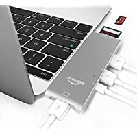 USB C Hub, BESTHING Type-C hub Adapter with USB C Charging Port, HDMI, 2 USB 3.0 Ports, SD/MicroSD Card Reader All Aluminum Body for MacBook Pro 2015/2016 & Other Type-C Devices(Space Gray)